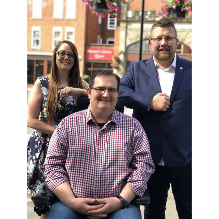 NickGarvey, Candidate in Newport South By-Election with Cllrs Sarah Syrda and Thomas Janke
