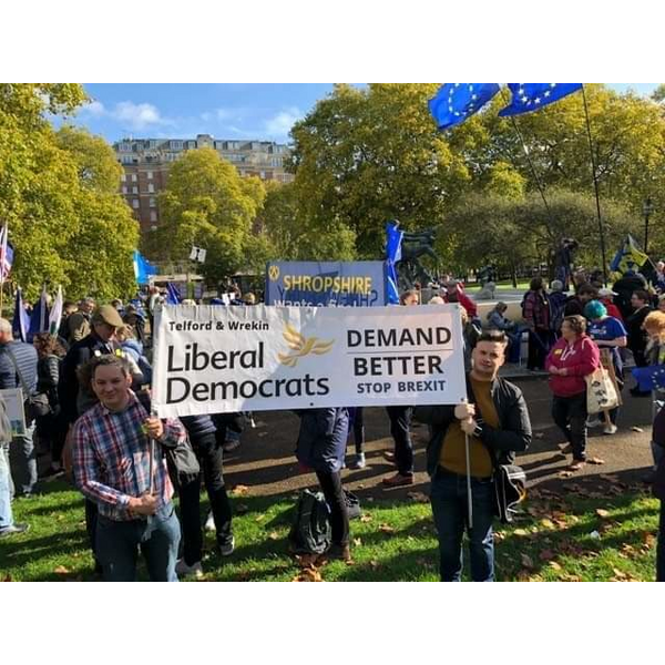 Telford and Wrekin Lib Dems march for a final say