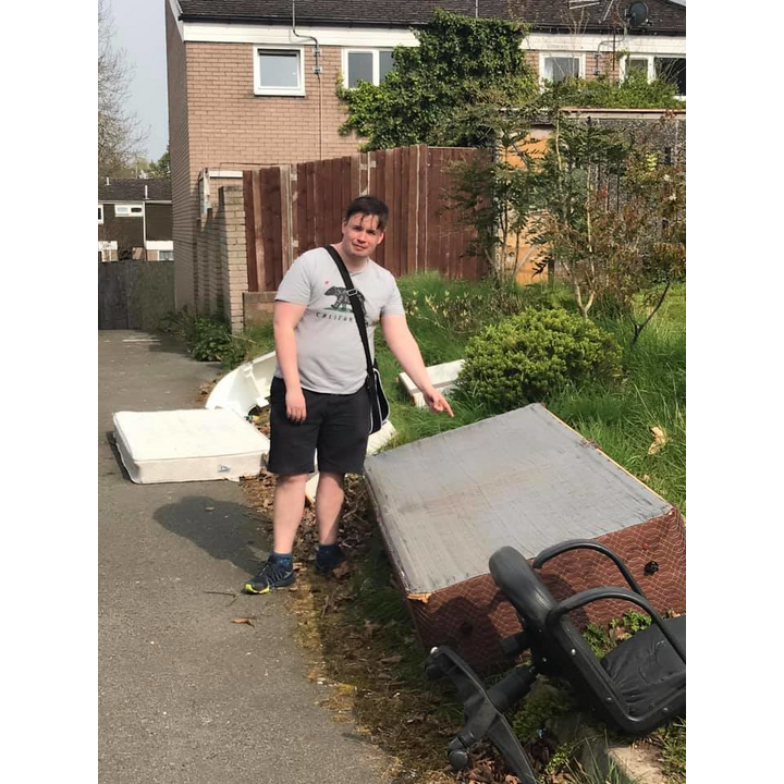 Greg Spruce Telford Woodside fly tipping April 2019